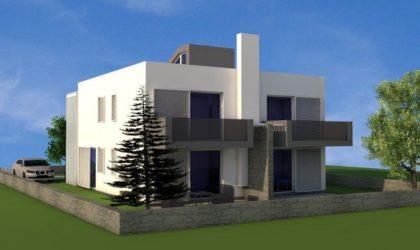 POTOČNICA: Prodaju se dva odvojena dvoetažna apartmana u izgradnji. Cijena 1.390 €/m2