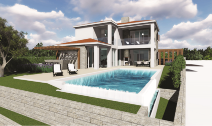 JAKIŠNICA Dvije luksuzne kamene vile s bazenom u izgradnji, PRVI RED DO MORA! ► Na upit