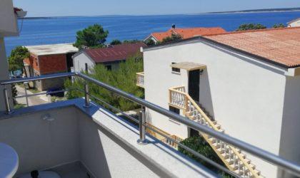 MANDRE 2-sobni apartman 42 m2 s terasom i parkingom, namješten, pogled na more ► 99.000 €