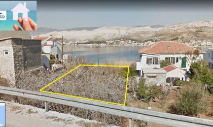 GRAD PAG Zemljište 527 m2 pored mora s projektom za gradnju kuće i svim dozvolama ►67.000 €