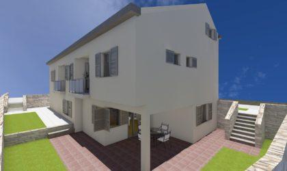 GRAD PAG Zemljište 405 m2 s građevinskom dozvolom, blizu plaže, pogled na more ► 65.000 €